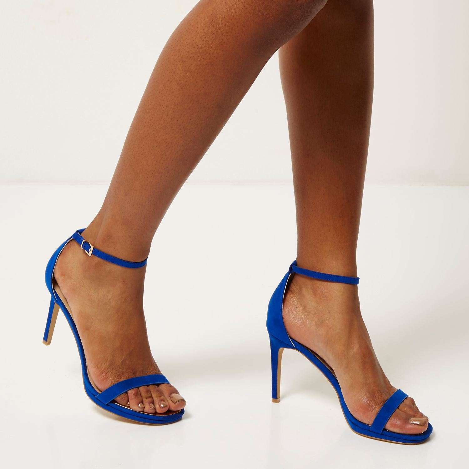 Blue Sandals Heels - Is Heel