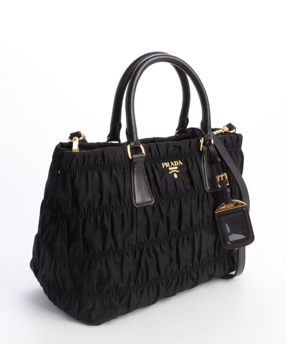 83cfde805892 ... buy italy lyst prada nylon tessuto gaufre top handle small tote in  black 5f830 3a3b5 fa1be