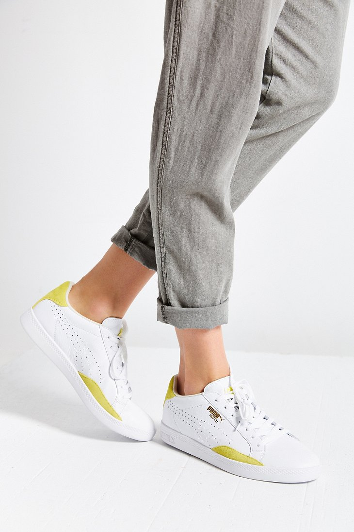 PUMA Match Leather Low-top Basic Sport Sneaker in Yellow - Lyst 3ff0eac394