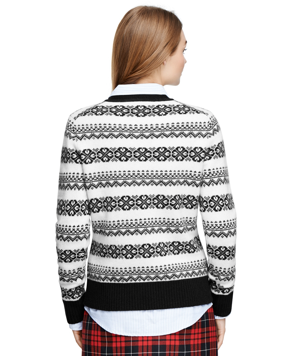 Brooks brothers Fair Isle Sweater in Black | Lyst