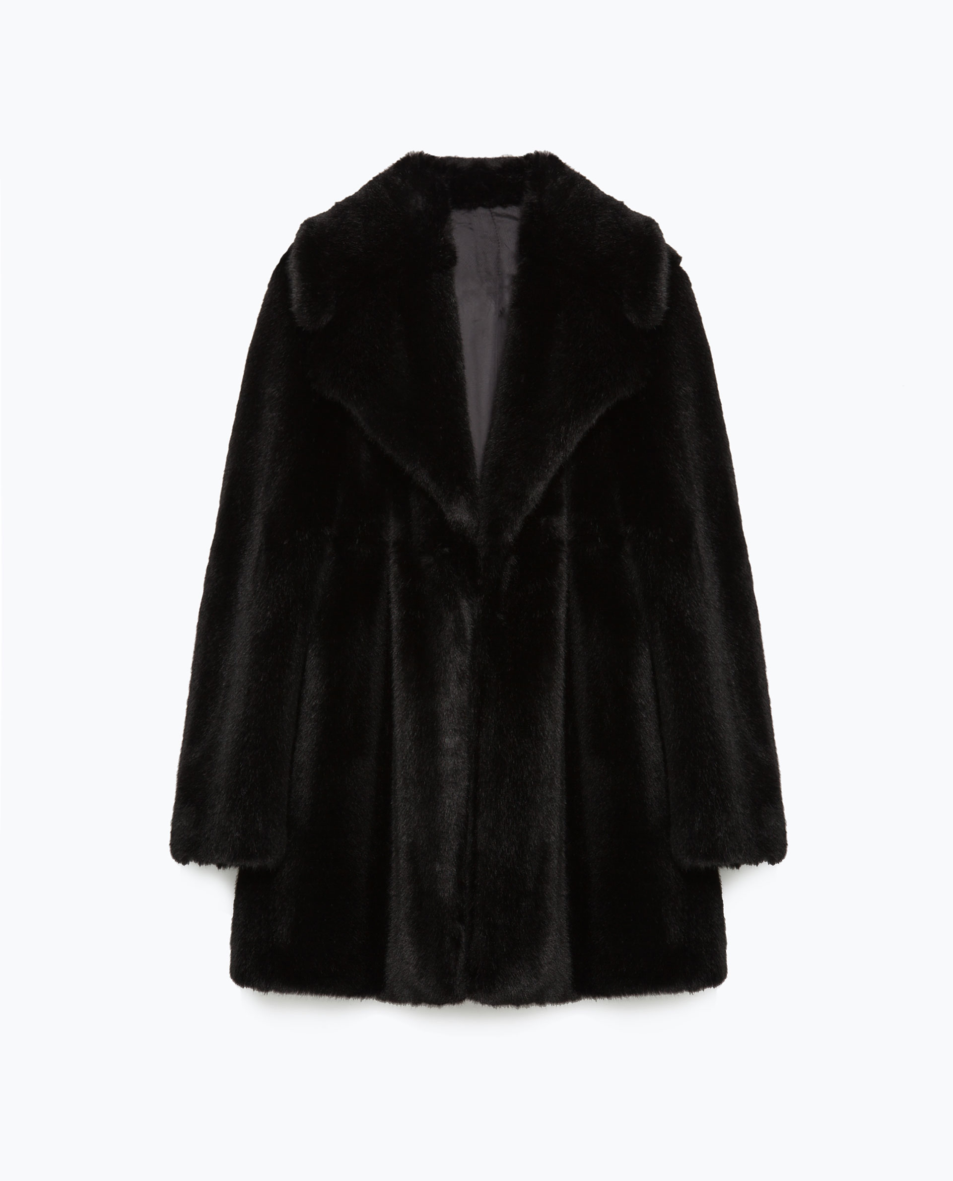 Black Faux Fur Coat Photo Album - Reikian
