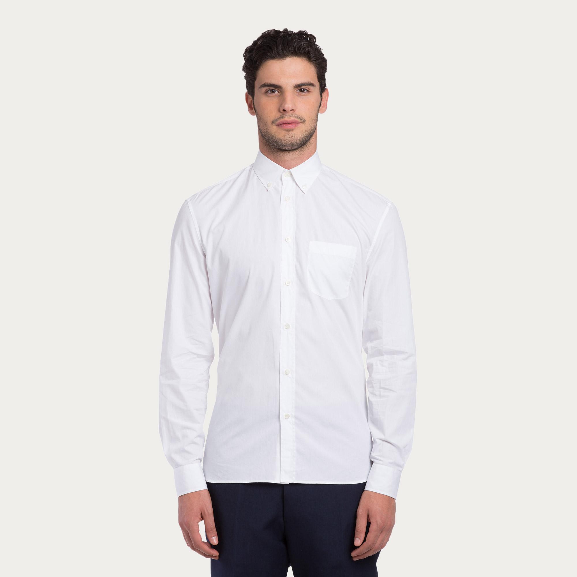 Bally Cotton Poplin Shirt In White For Men Lyst
