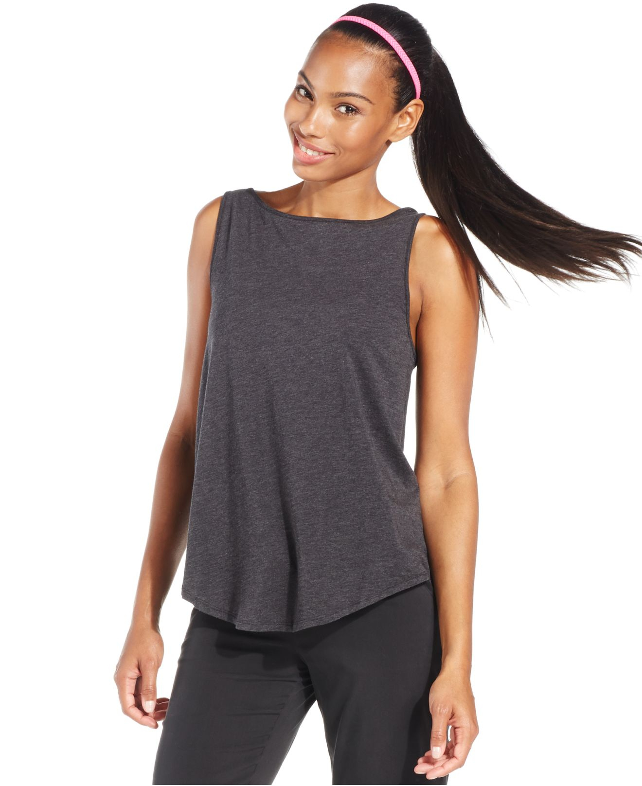 under armour take a chance tank top in gray lyst. Black Bedroom Furniture Sets. Home Design Ideas