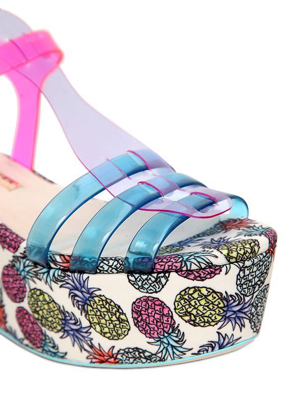 c390db361e43 Sophia webster Suki 80 Wedged Sandals in Metallic
