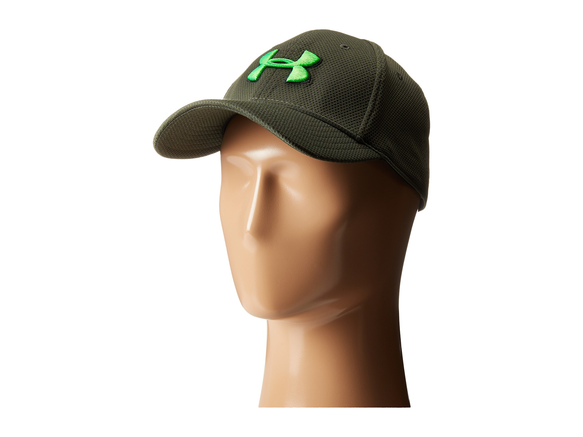 get cheap d90f0 37a41 ... coupon code for lyst under armour ua blitzing ii stretch fit cap in  green for men