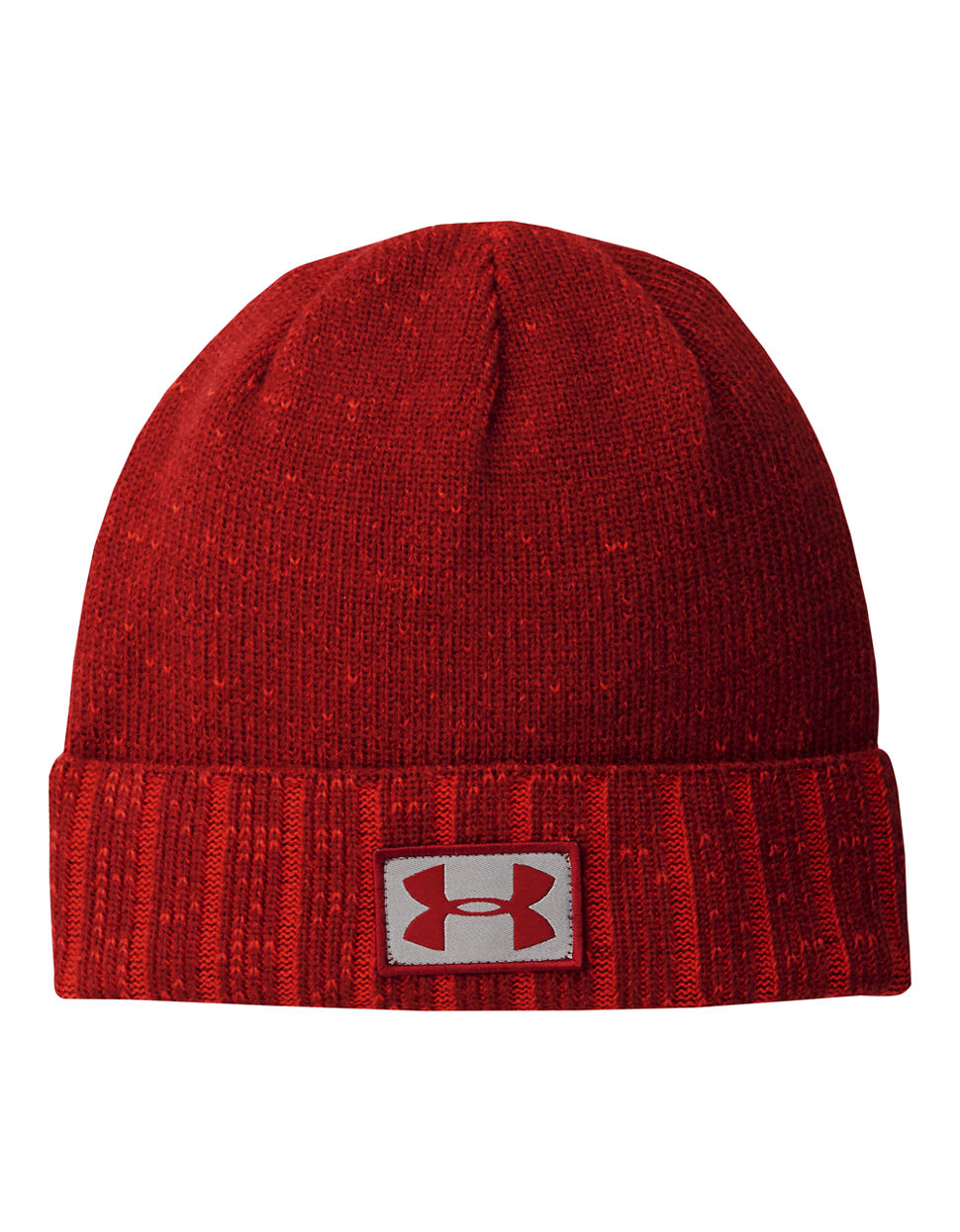 e12644bf5ea Lyst - Under Armour Coldgear Infrared Cuff Beanie in Red for Men