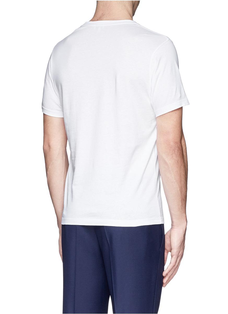 kenzo multi logo print t shirt in white for men lyst. Black Bedroom Furniture Sets. Home Design Ideas