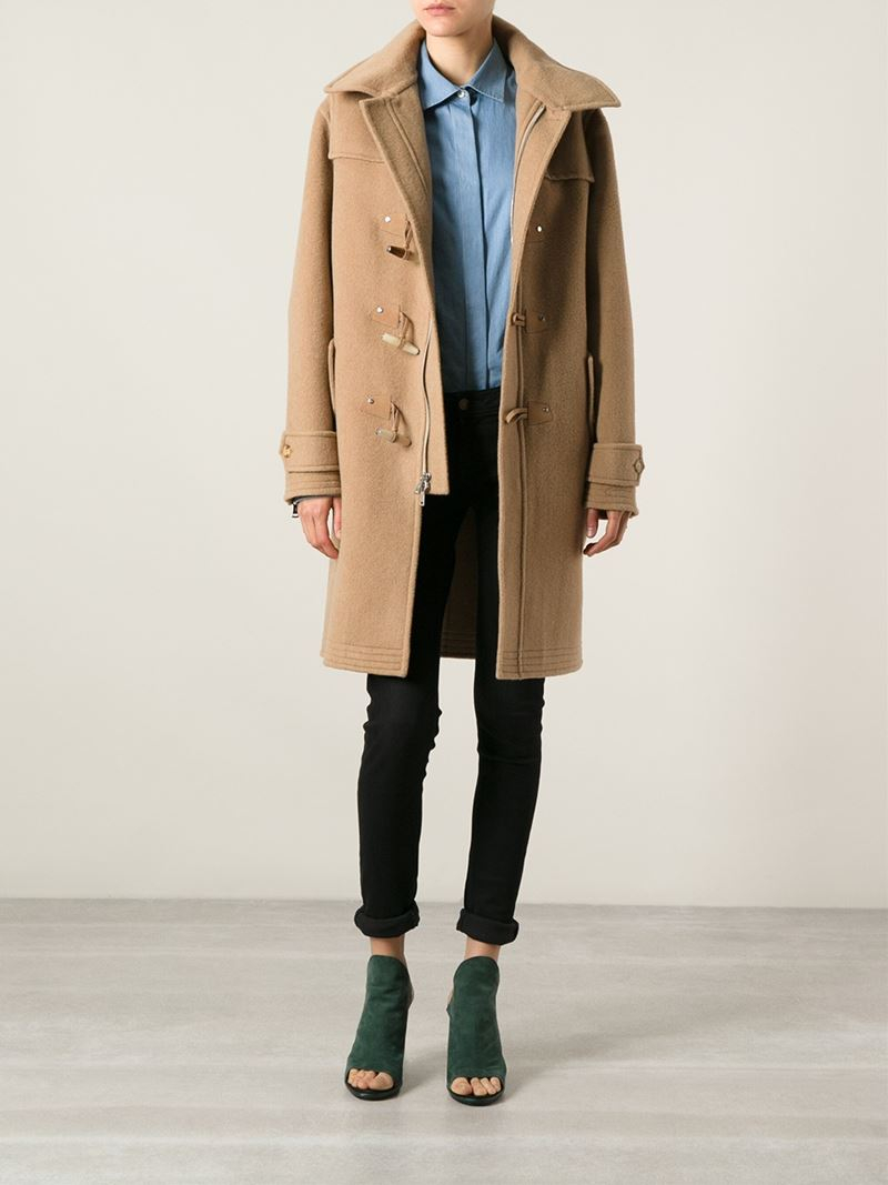 Ralph lauren black label Oversized Duffle Coat in Brown | Lyst