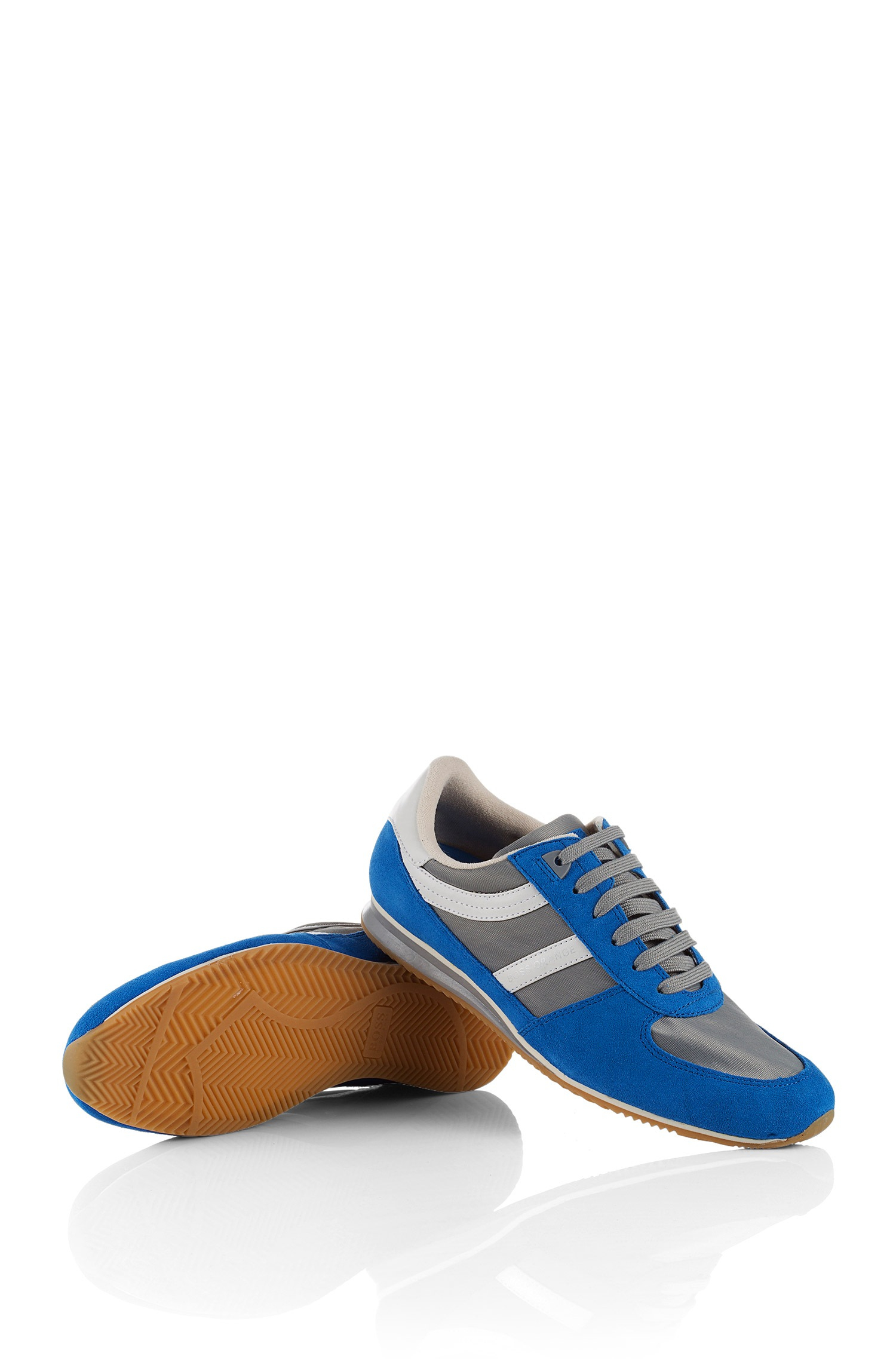 boss orange sneakers 39 adinous 39 in a fabric blend in blue. Black Bedroom Furniture Sets. Home Design Ideas