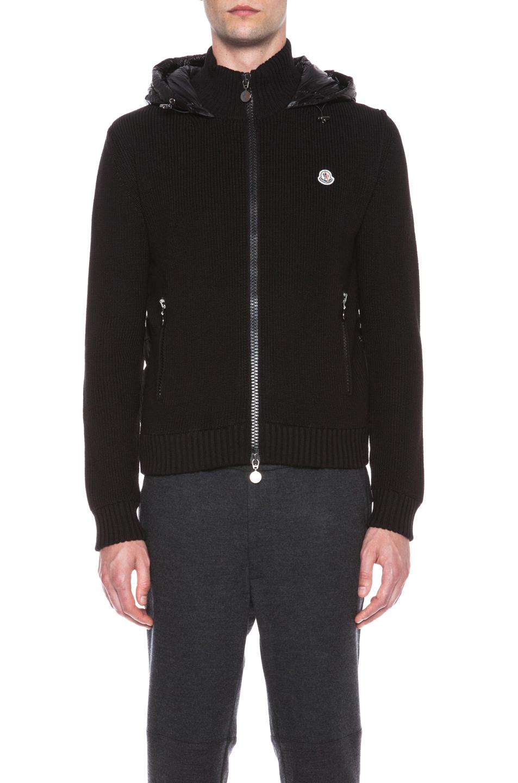 moncler hoodie black