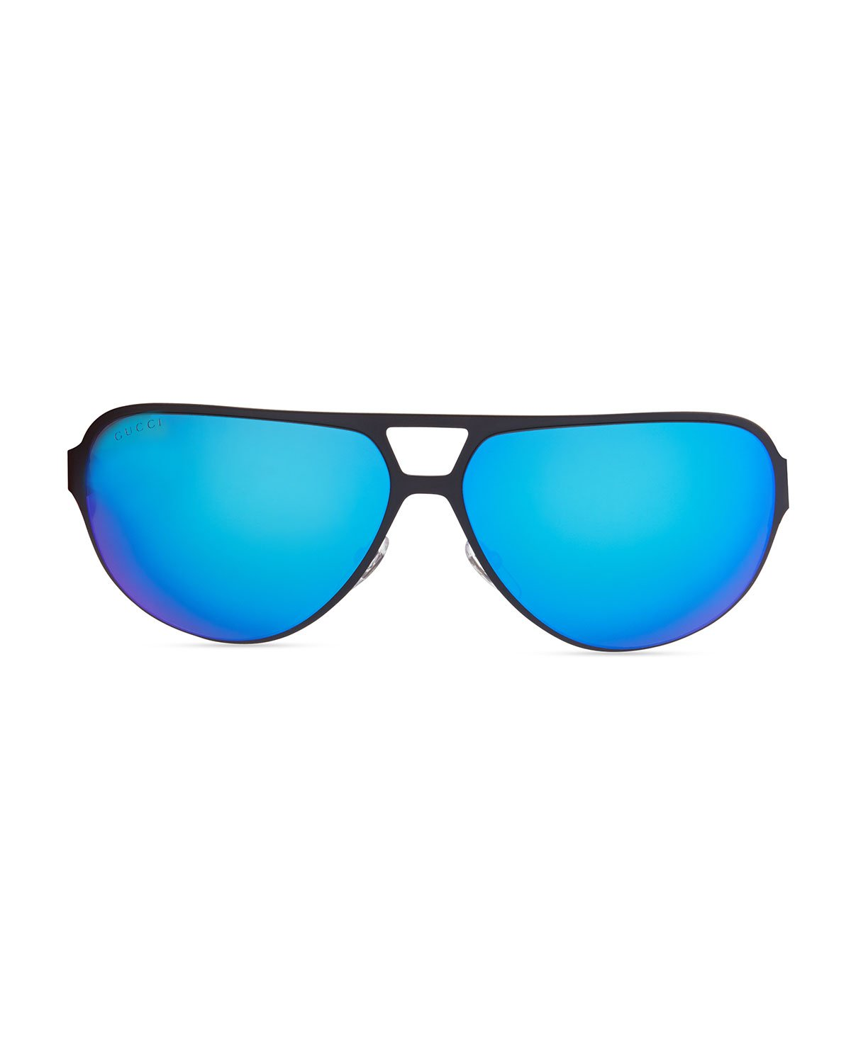 68b0a22b1d1 Lyst - Gucci Semi Matte Aviator Sunglasses in Blue for Men