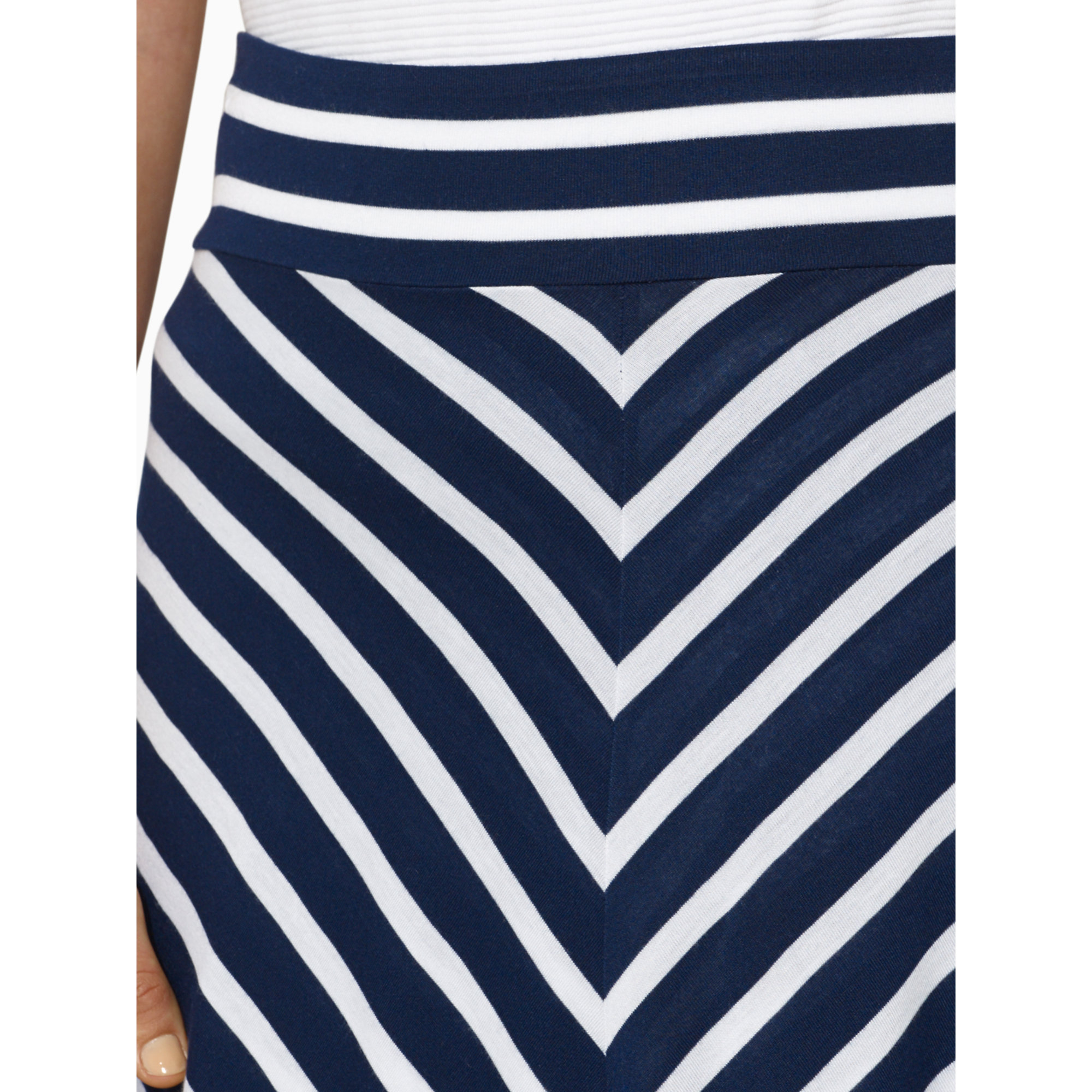 ralph striped jersey skirt in blue san remo navy