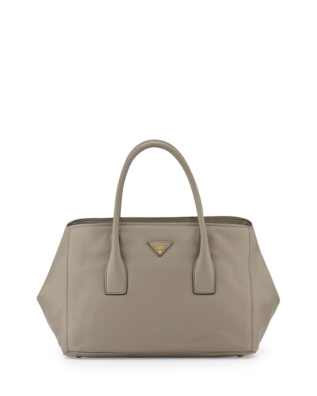 ... where can i buy lyst prada vitello daino garden tote bag in gray 73901  c289b ... 89f3a73322