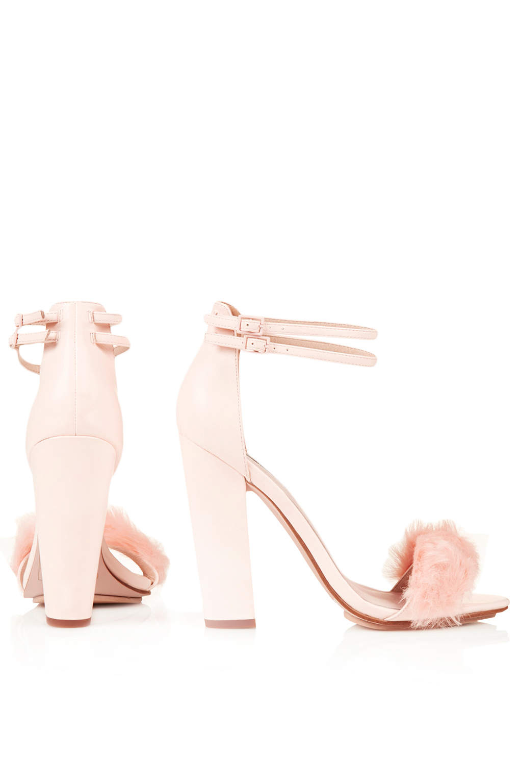 Lyst Topshop Rabbit Faux Fur Fluffy Sandals In Pink