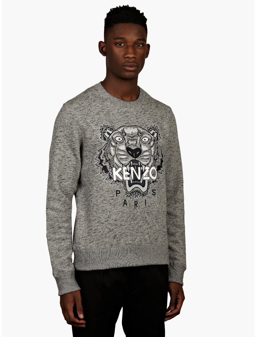 Mens Fashion Grey Jumper