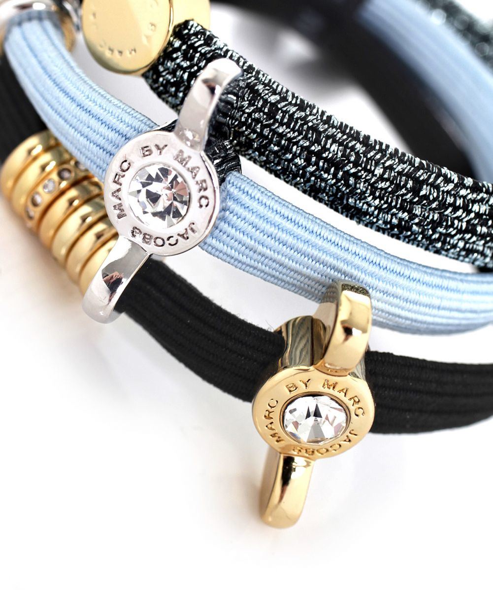 94a3637cd37 Lyst - Marc Jacobs Embellished Wingnut Coil Hair Ties in Blue