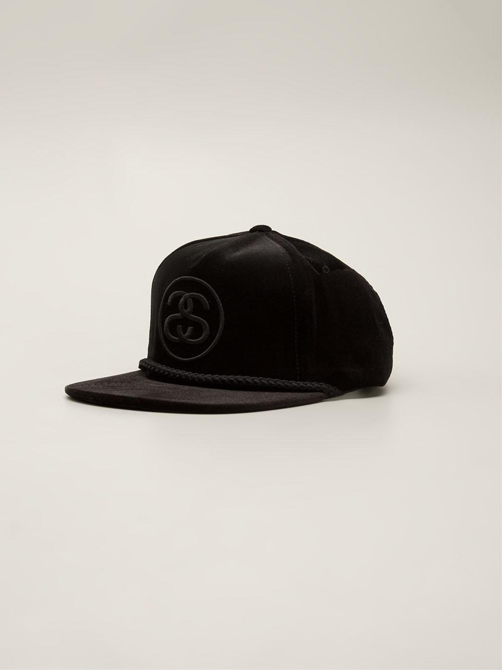 Lyst - Stussy Velvet Snapback in Black for Men c12420e7c55