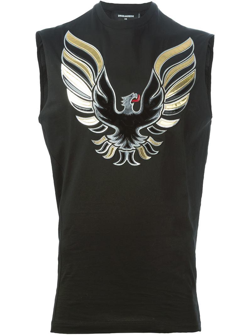 Dsquared Bird Appliqu T Shirt In Black For Men Lyst