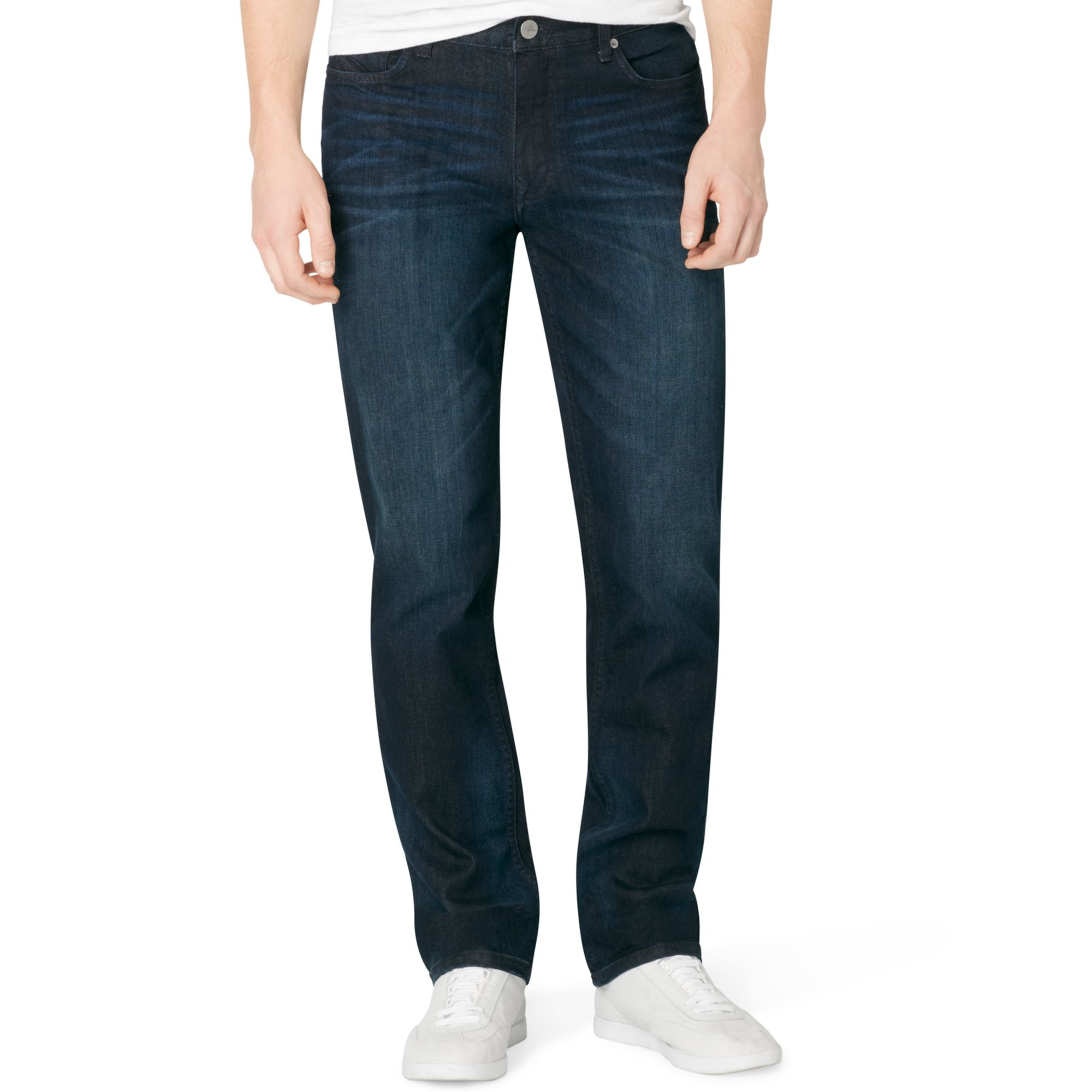 calvin klein jeans slim straight jeans in blue for men. Black Bedroom Furniture Sets. Home Design Ideas