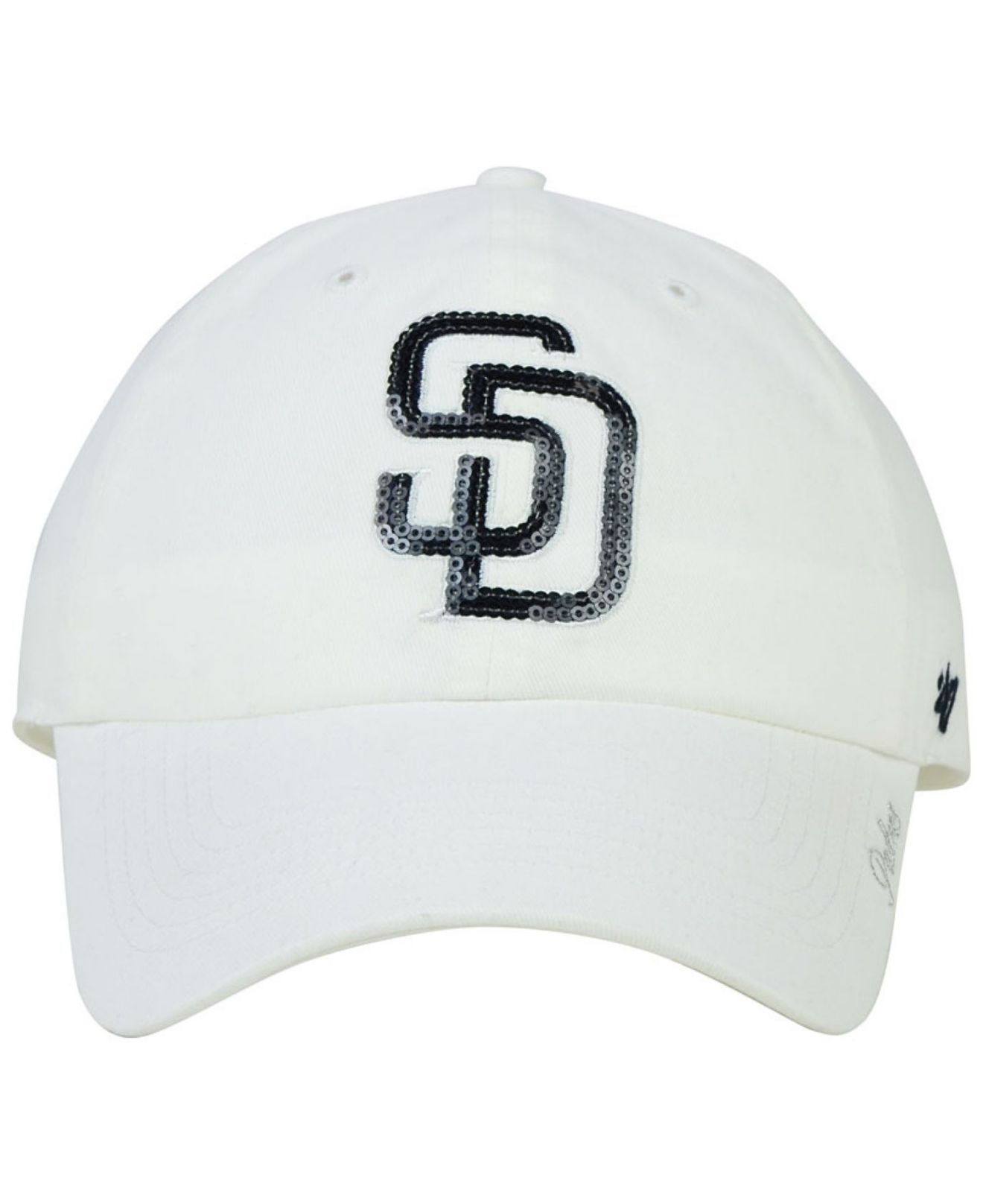 outlet store 0b10d 8e248 47 Brand Women s San Diego Padres Adjustable Clean Up Cap in White ...