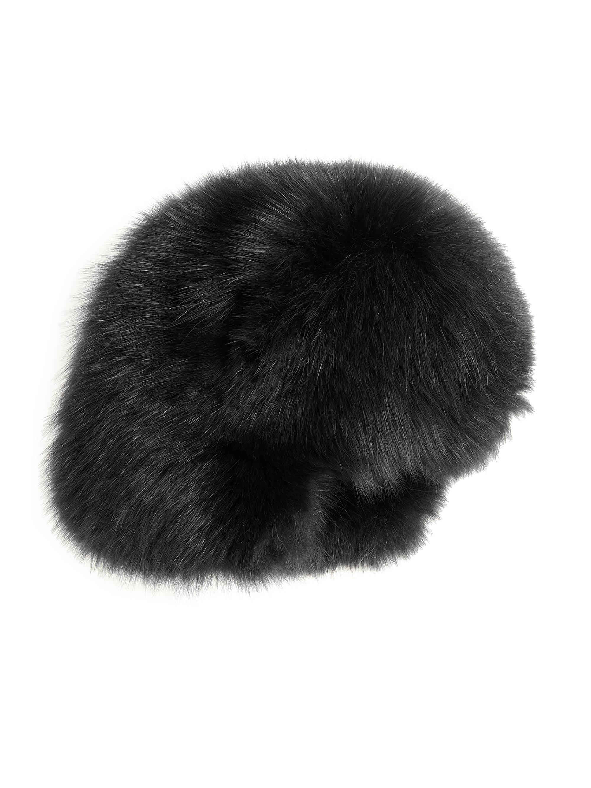 Lyst - Moncler Fur Hat in Black ea559f572a9