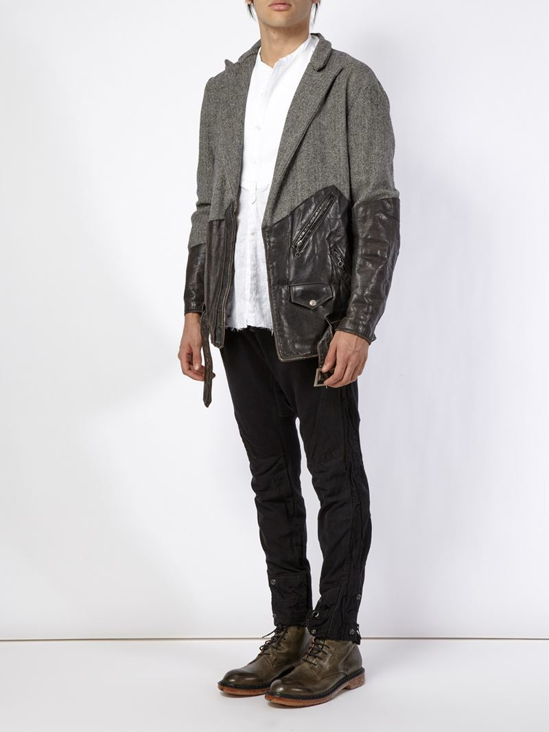 Lyst Greg Lauren Combi Jacket In Black For Men