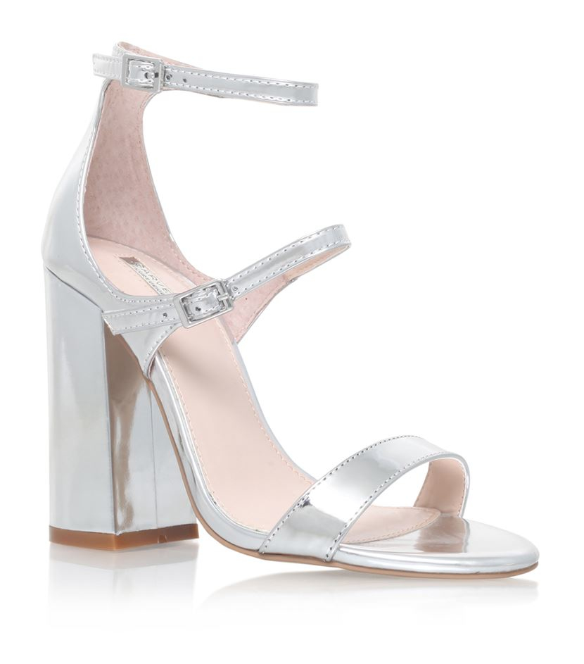 e673ec32b32 Carvela Kurt Geiger Genetic Block Heel Sandal in Metallic - Lyst