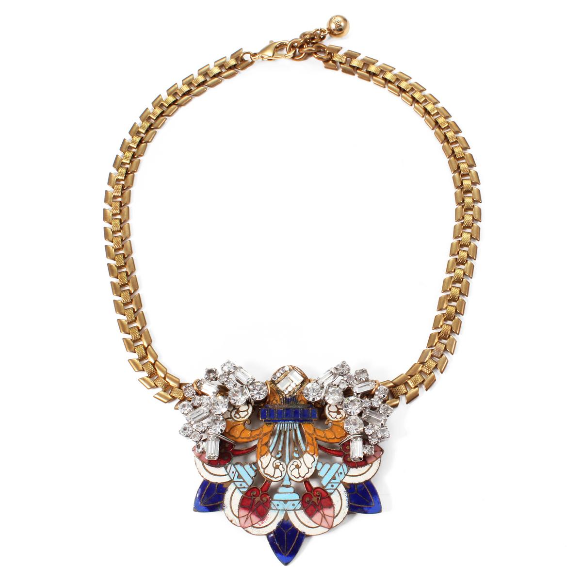 lulu 50 year necklace 1 in metallic lyst