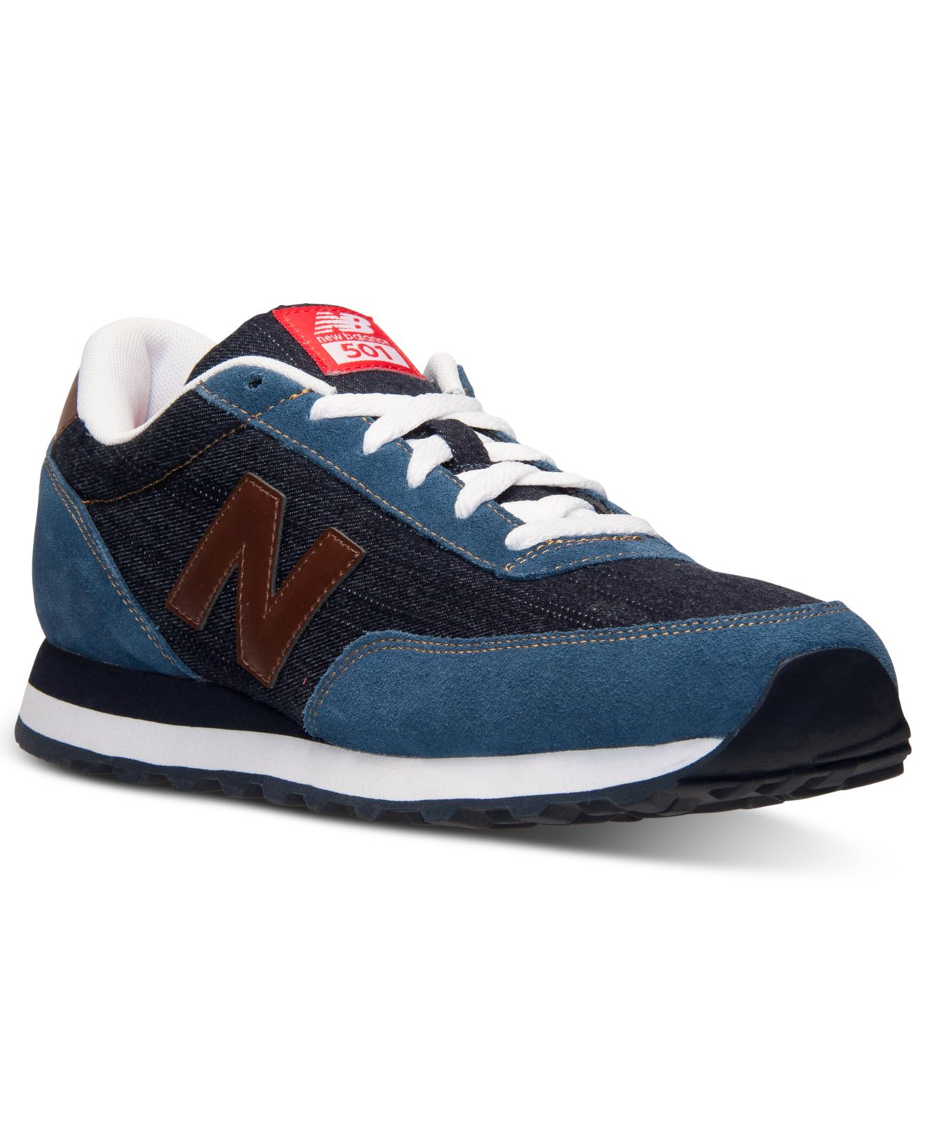 new balance s 501 vintage indigo casual sneakers from