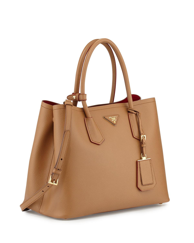 ysl classic bag - Prada Saffiano Cuir Medium Double-Pocket Tote Bag in Beige (CAMEL ...