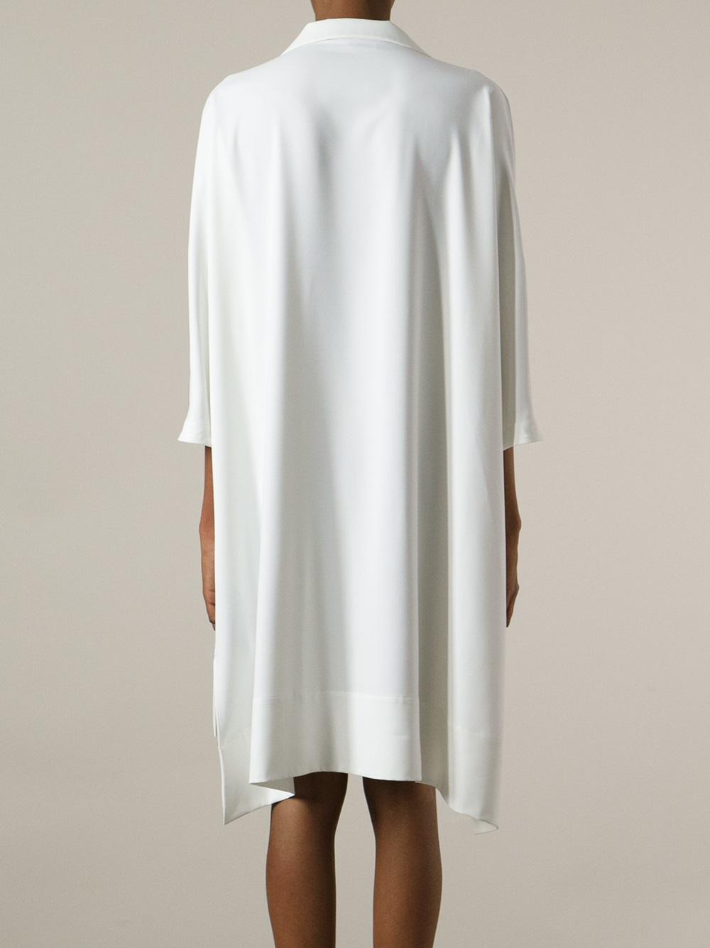 Lyst Mantu Loose Fit Shirt Dress In White