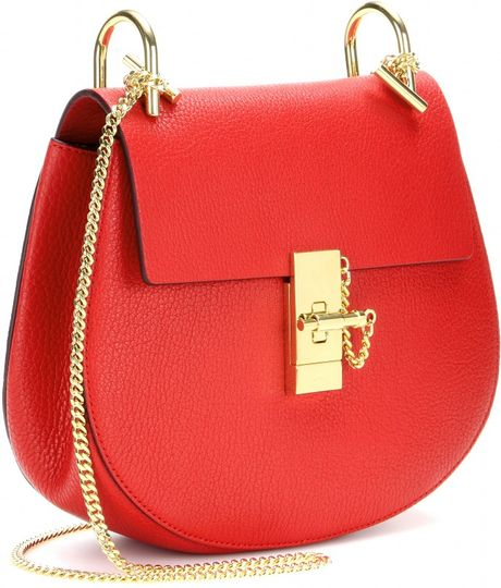 Chloe Red Leather Shoulder Bag 50