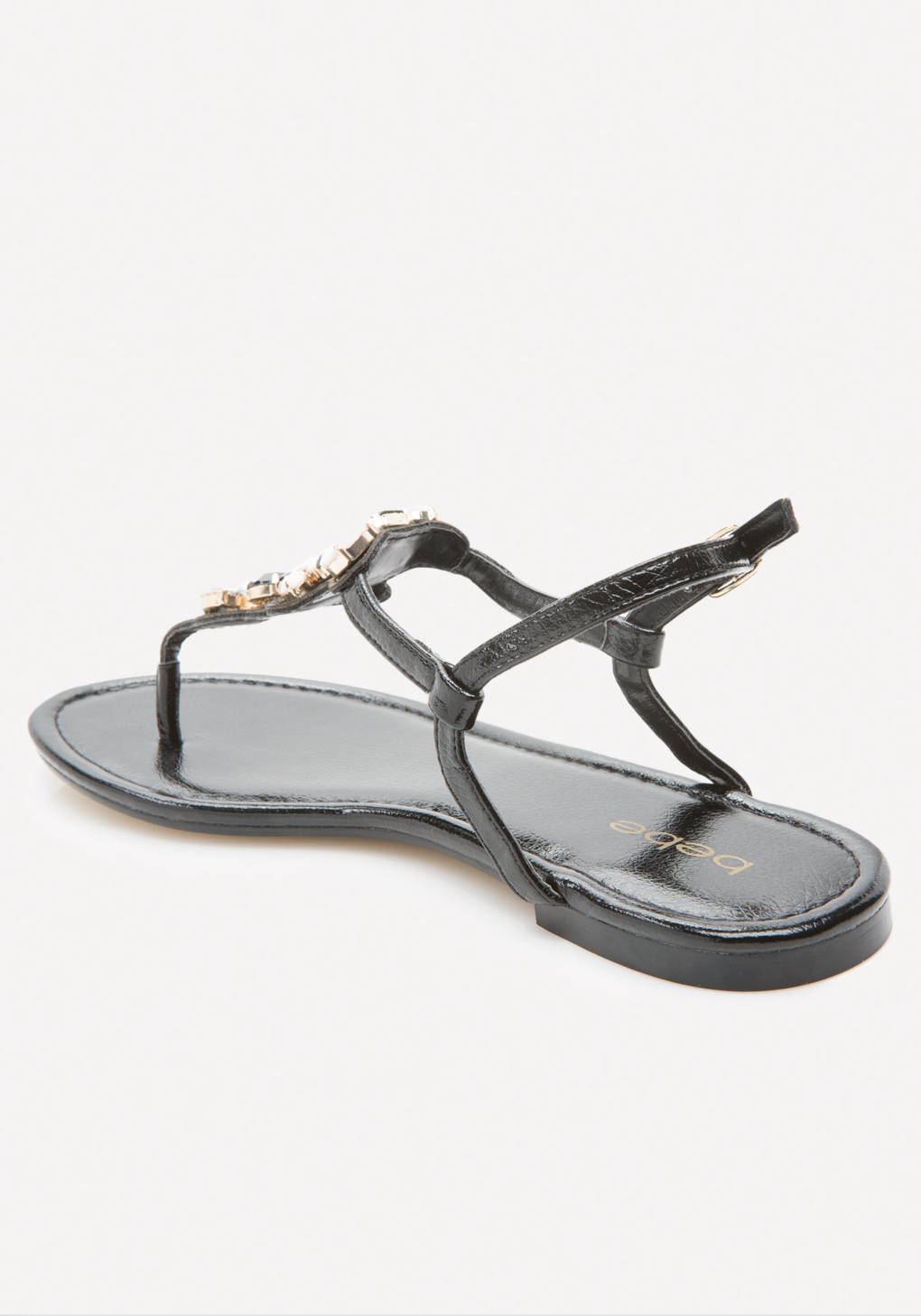 d040f63a5e6f42 Lyst - Bebe Shaya Jeweled Flat Sandals