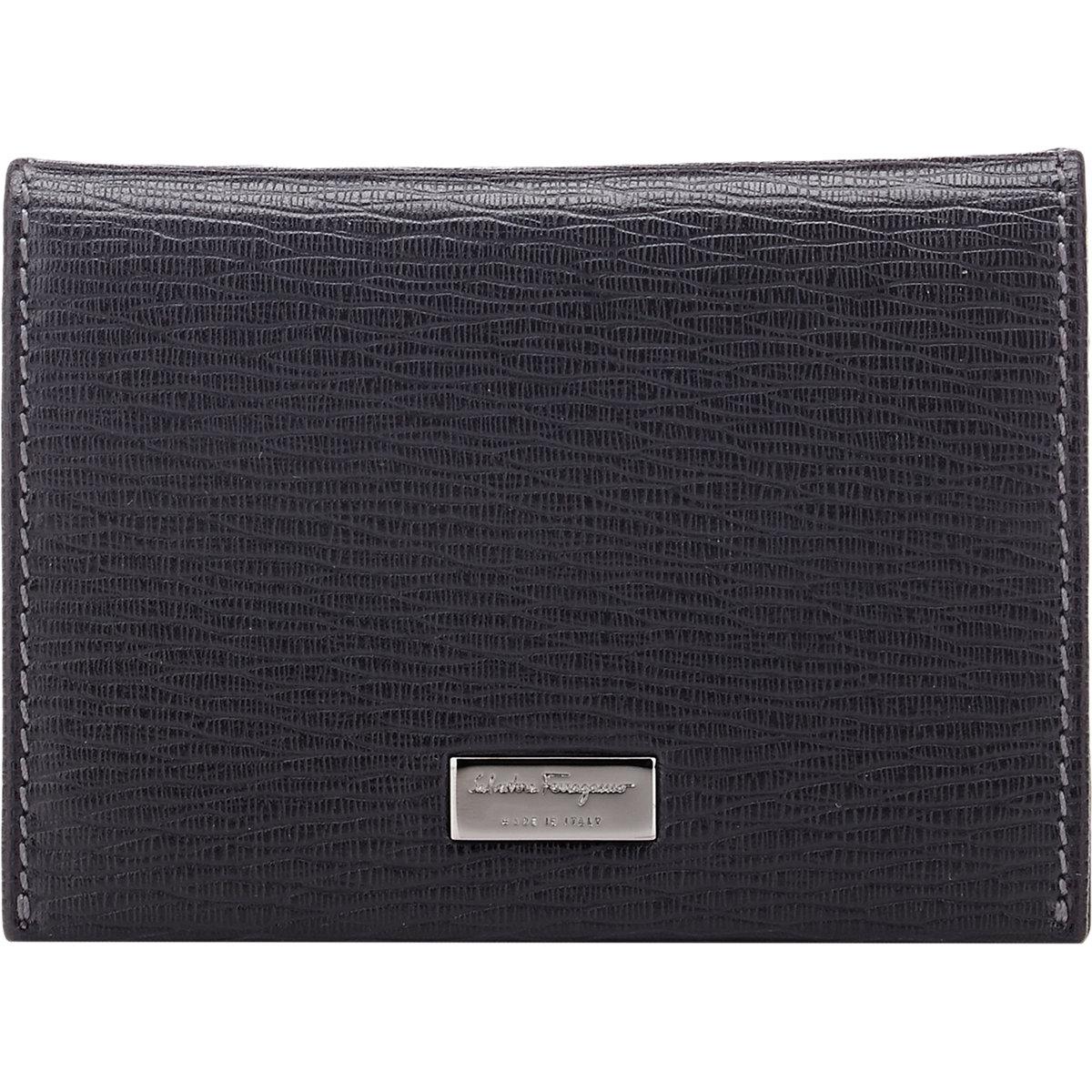 Lyst - Ferragamo Revival Folding Card Case in Black for Men acdf33421244e