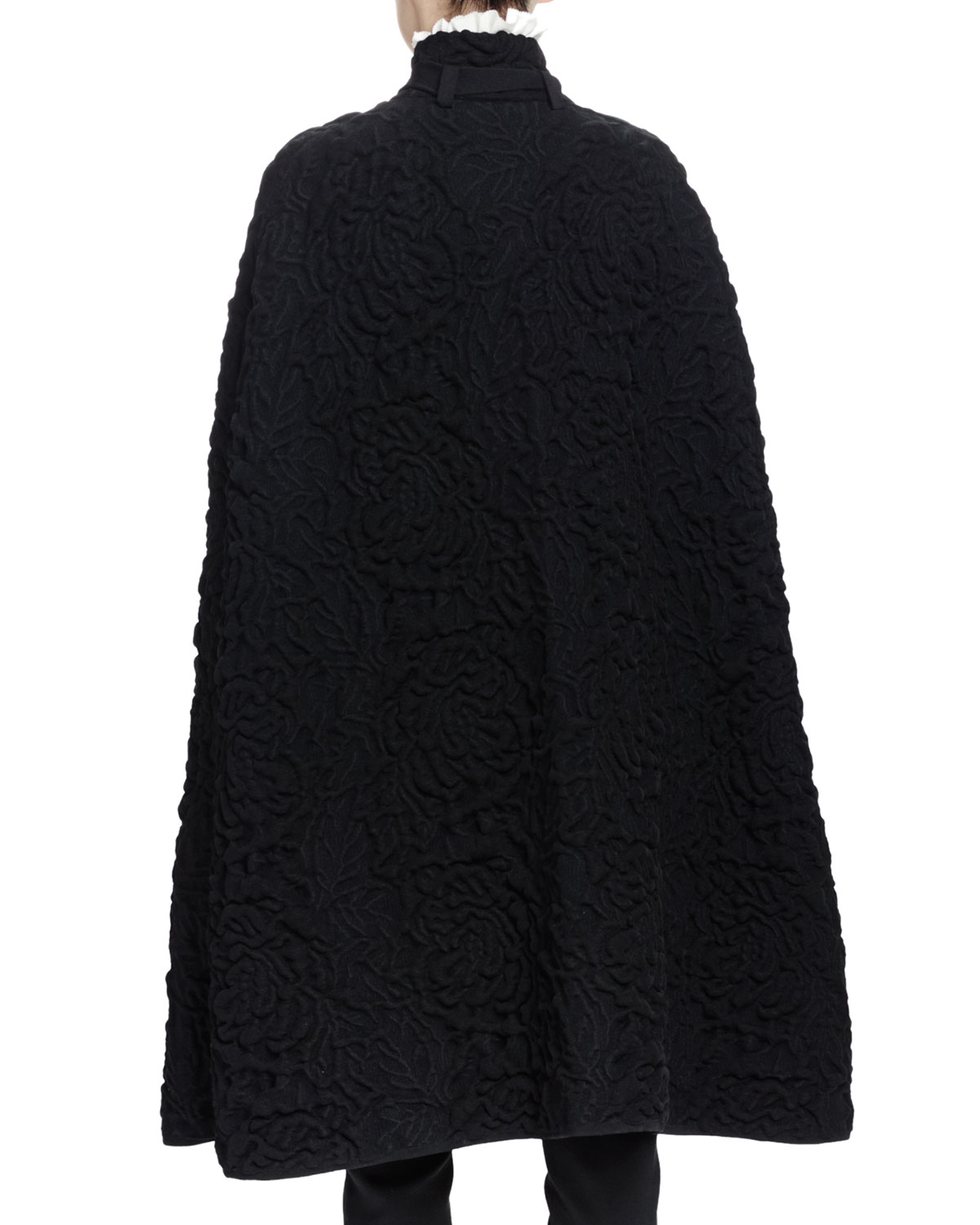Alexander mcqueen Chunky Quilted-knit Long Cape in Black Lyst