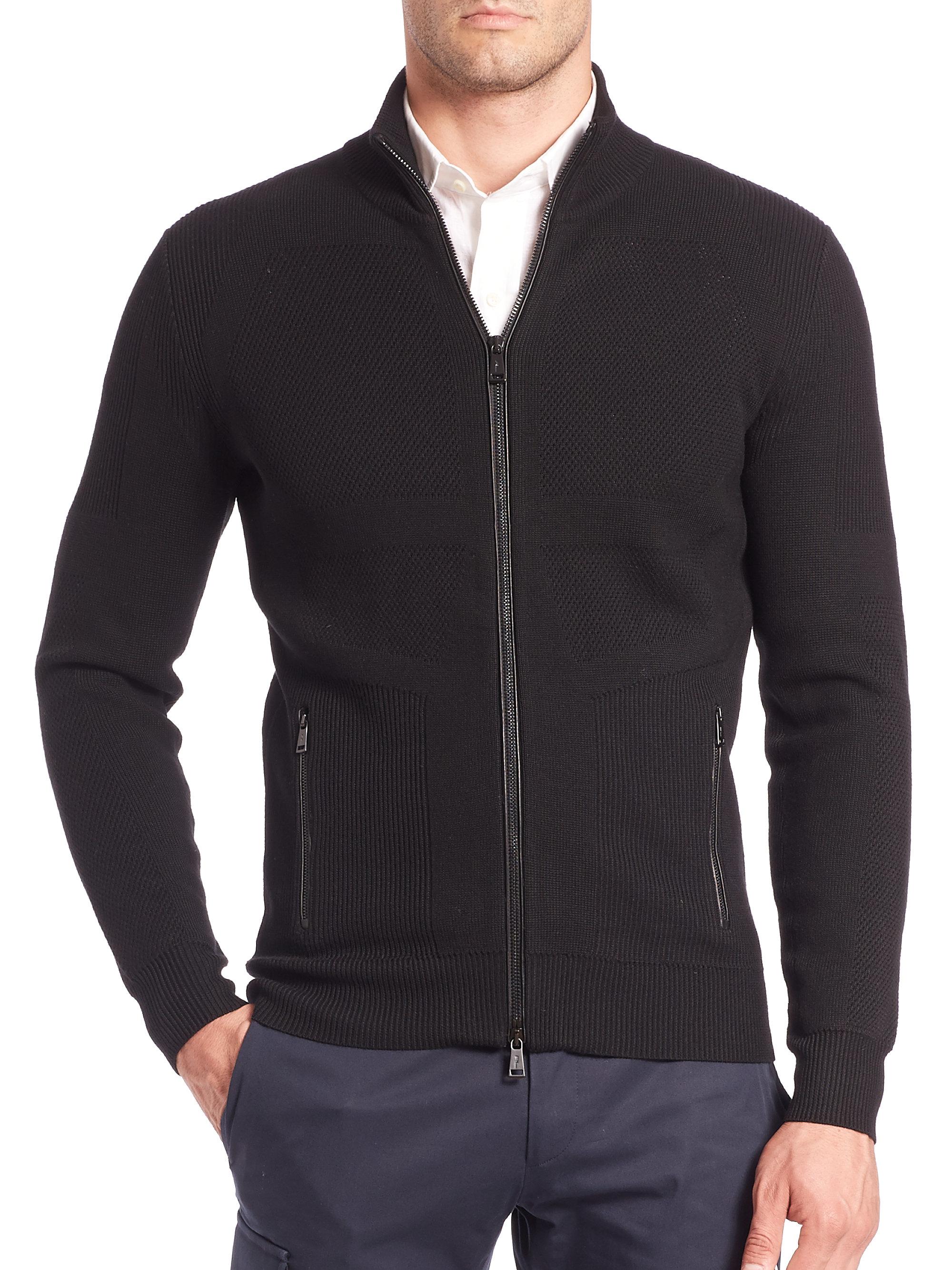 Ralph lauren black label Body-map Merino Wool Sweater in Black for ...