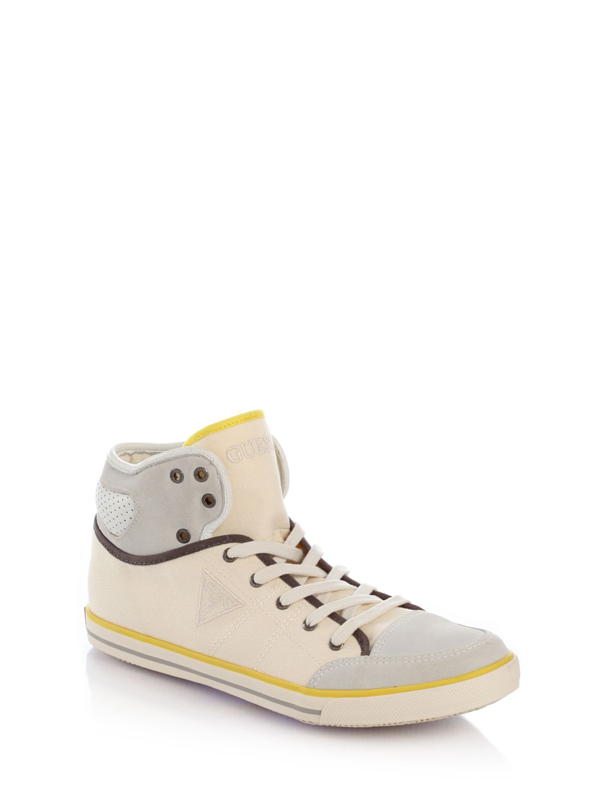 guess dex laminated shoe in white for lyst