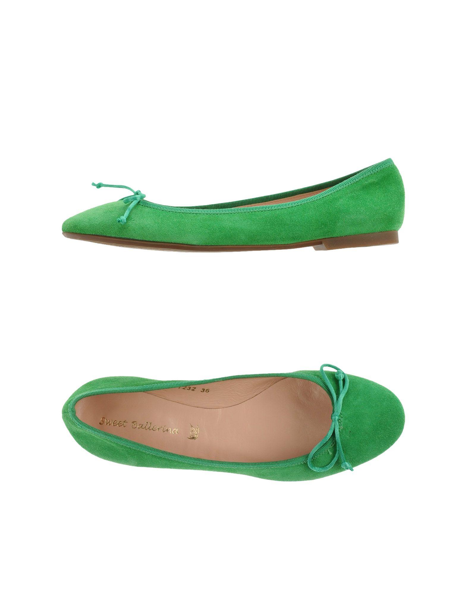 Sweet Ballerina Ballet Flats in Green (Light green)