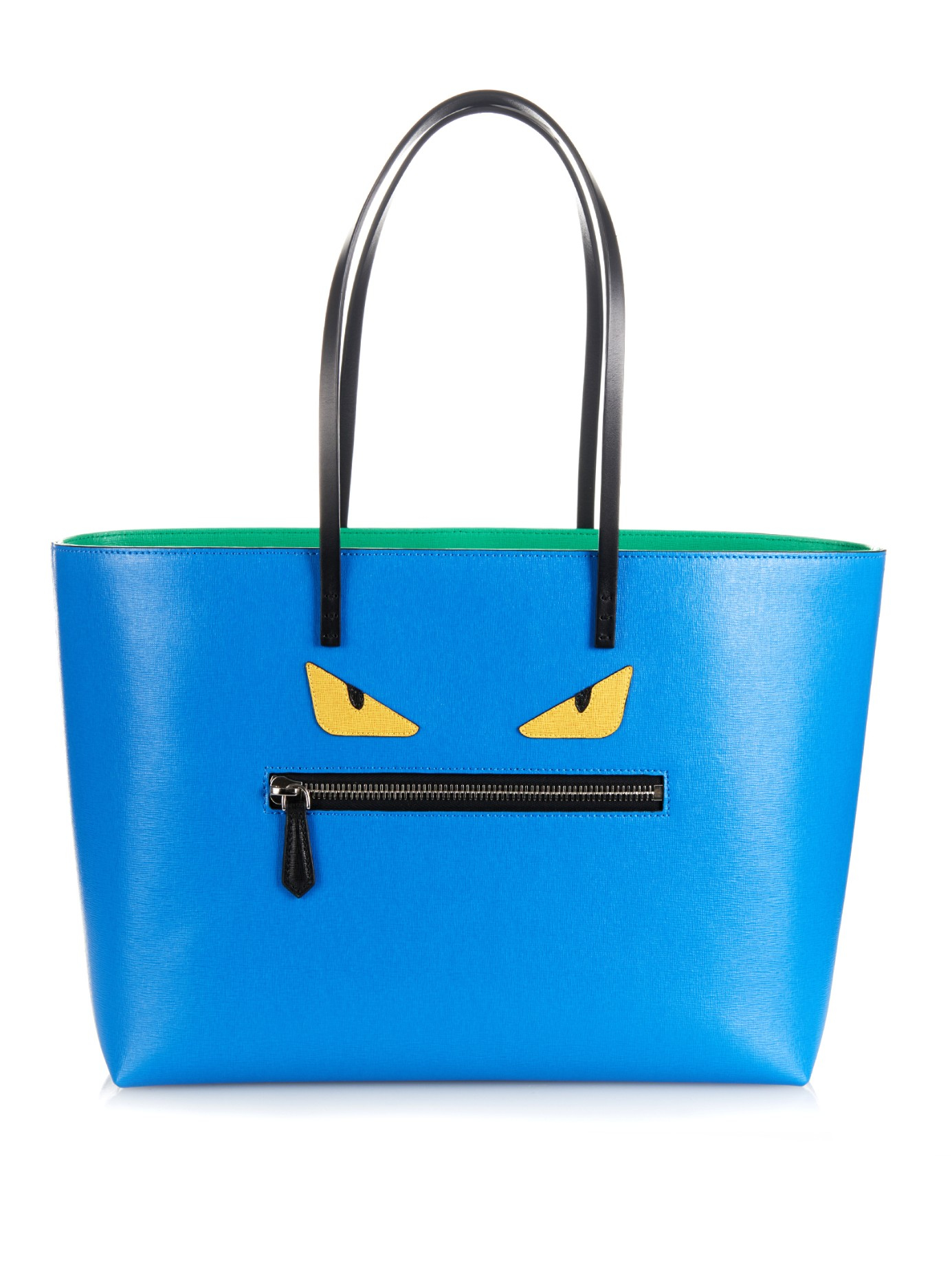 Lyst - Fendi Roll Leather Tote in Blue 52be911b1419e