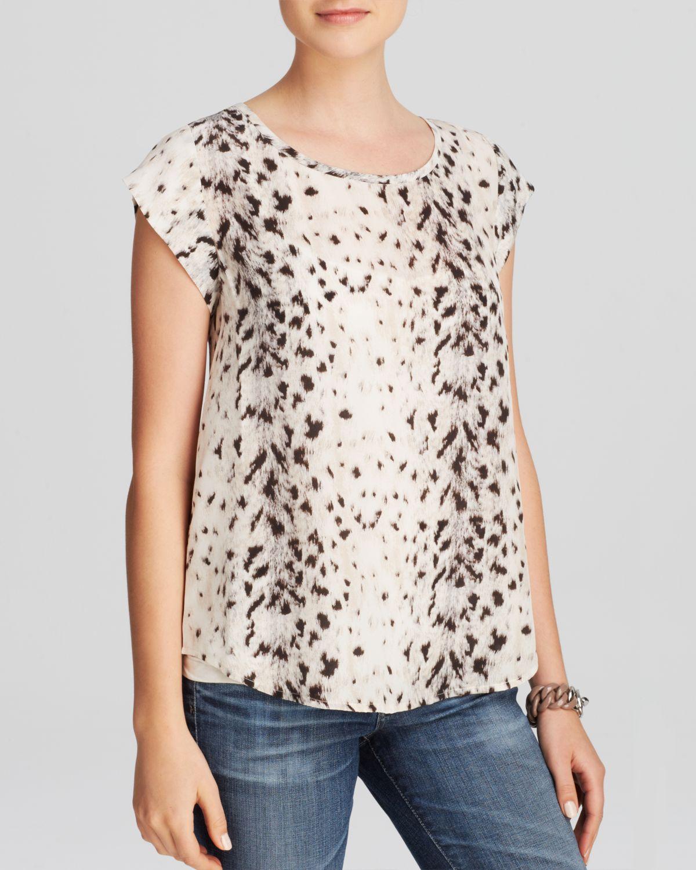 88b020e4b2aba Lyst - Joie Top - Rancher B Leopard Print Silk