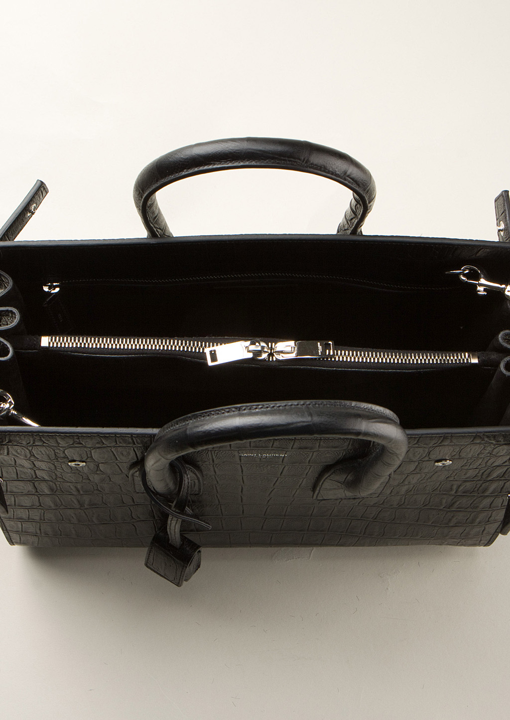 ysl duffle bag price - classic small sac de jour bag in black suede and leather