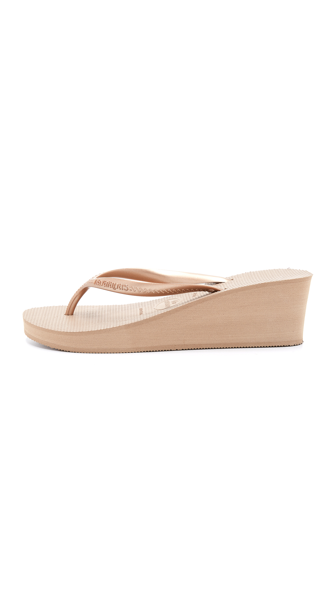 Havaianas High Fashion Wedge Sandals In Pink Lyst