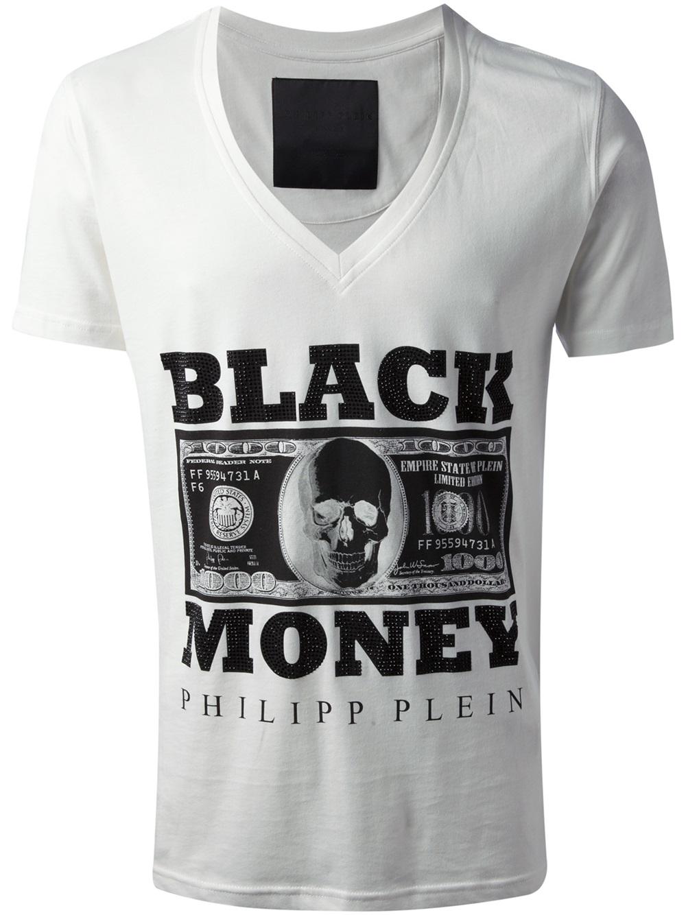 Lyst - Philipp Plein Black Money T-shirt in White for Men c08a0483898f