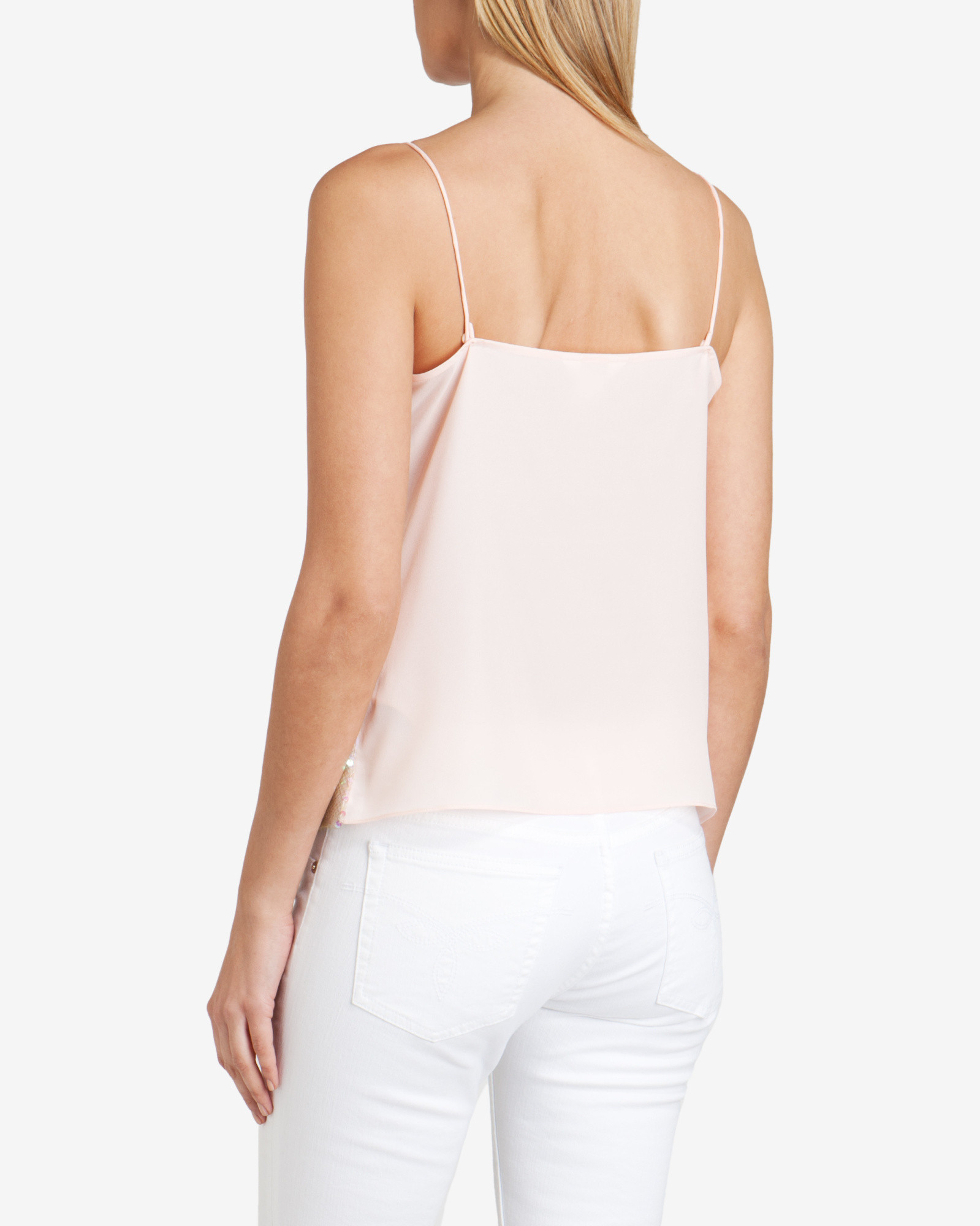3065e7182f89b Lyst - Ted Baker Sequin Cami Top in Pink