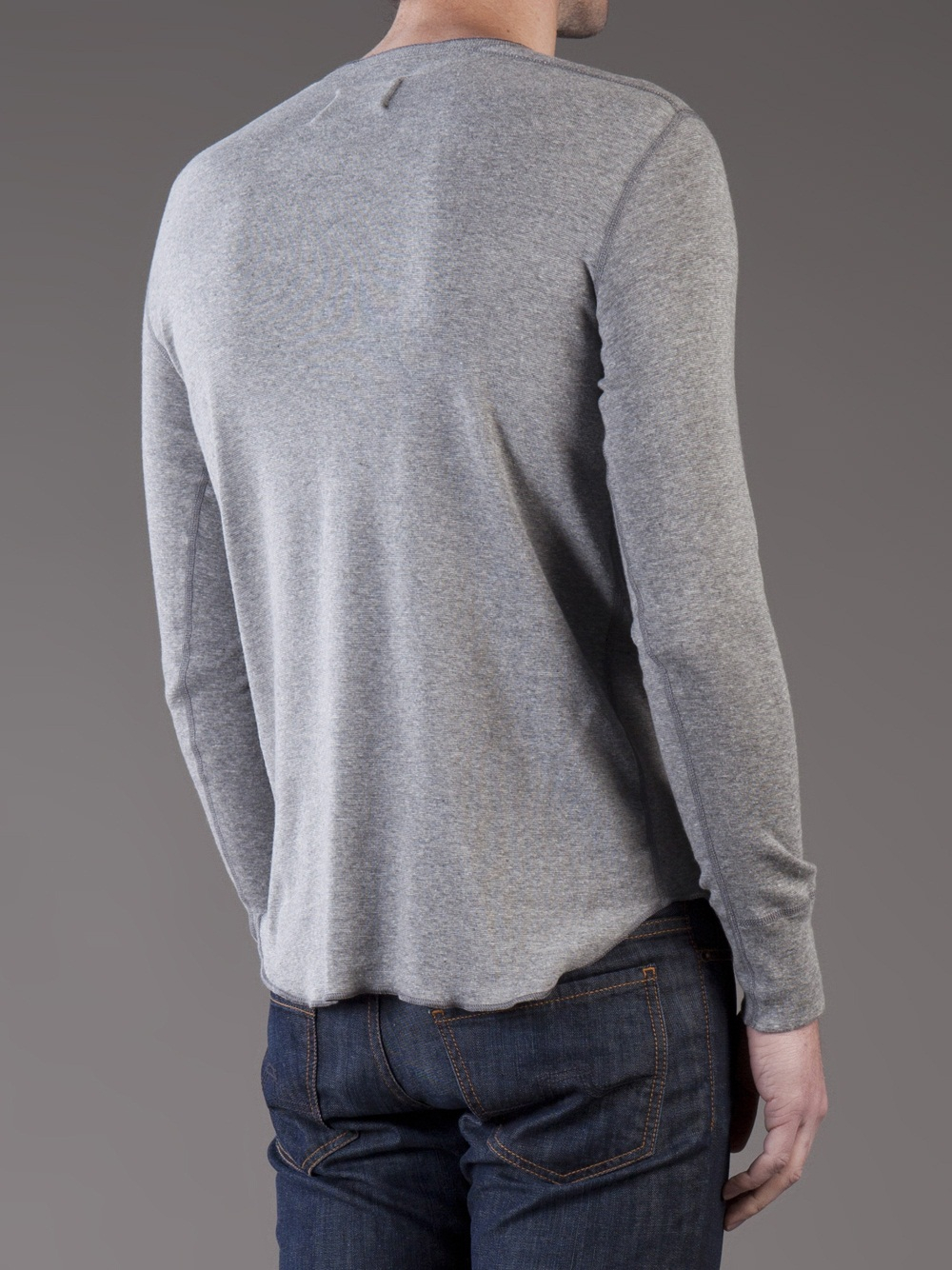 henley long sleeve shirt - Grey Wings+Horns Cheap Footlocker Pictures Discount Outlet Store Affordable rUvCv