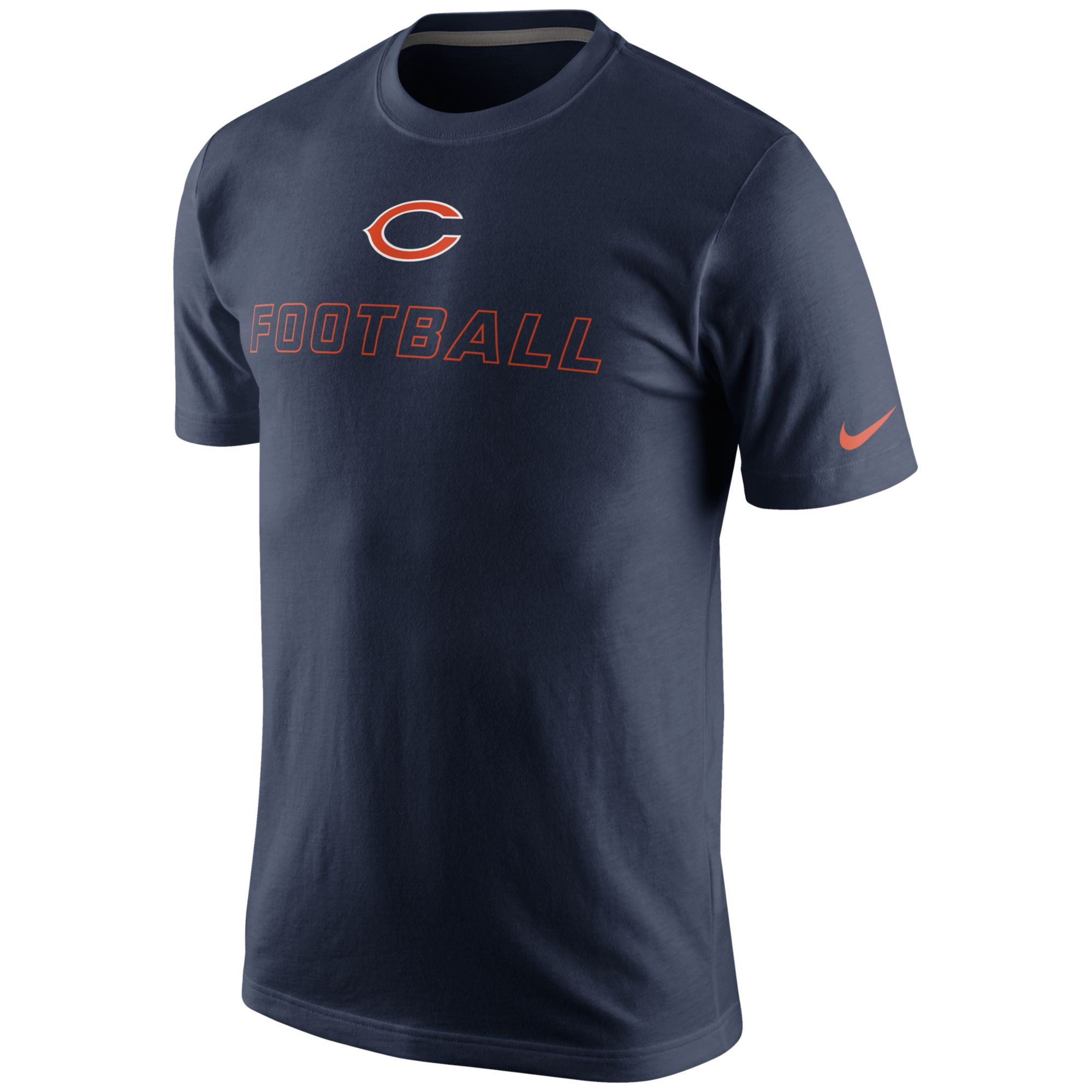 nike mens chicago bears day tshirt in blue for