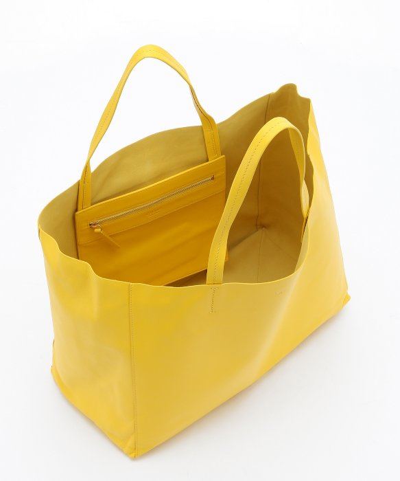 C¨¦line Yellow Lambskin Large Horizontal Tote in Yellow | Lyst
