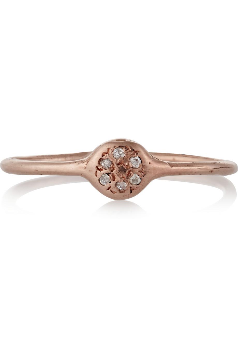 Lyst Scosha Lolli 10Karat Rose Gold Diamond Ring in Metallic