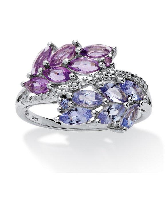 Purple Amethyst Rings Silver