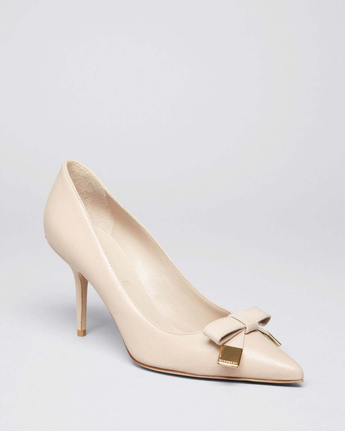 burberry pointed toe pumps rayness high heel in beige antique taupe lyst. Black Bedroom Furniture Sets. Home Design Ideas